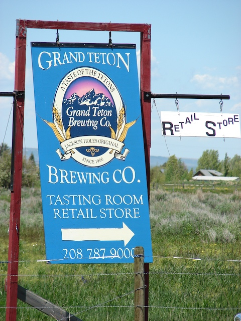 Sign for Grand Teton Brewing Company