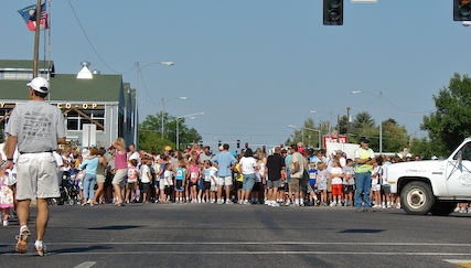 Children's Run starting line
