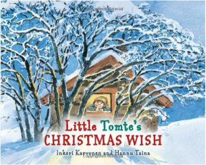 Little Tomte's Christmas Wish by Inkeri Karvonen Kids books about gnomes