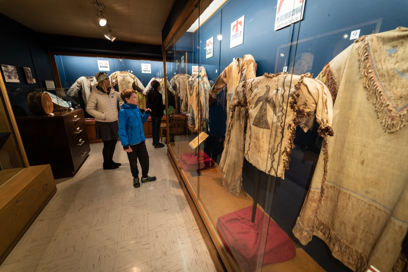 Native dresses at the Yellowstone County Museum