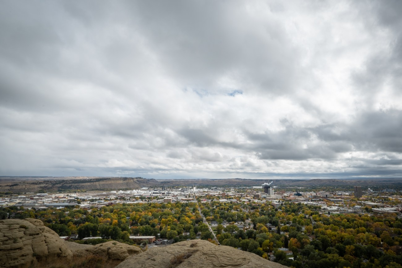 View from the Rimrock in Billings Montana