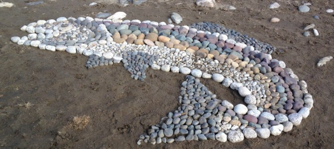 Rock art on the Yellowstone River