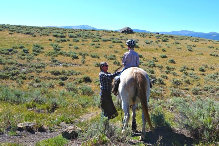 Horseback riding in Yellowstone National Park with Wilderness Pack Trips Erin Thompson