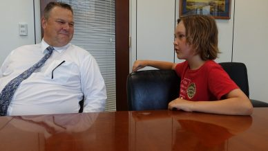 Moms Clean Air Force play-in for climate action 2016 meeting with Senator Jon Tester.