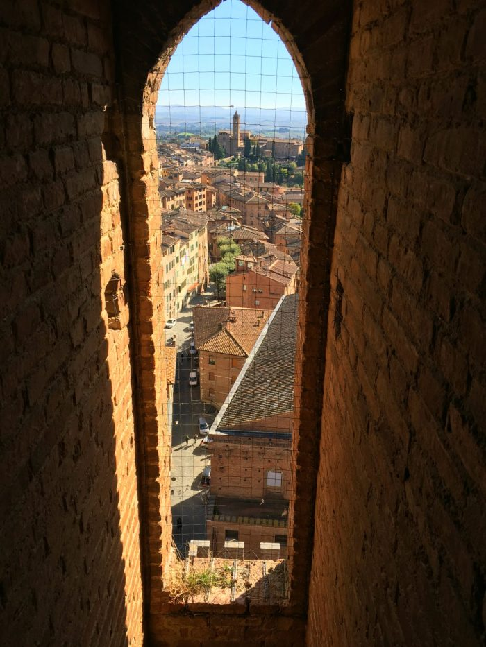 can you climb the siena tower