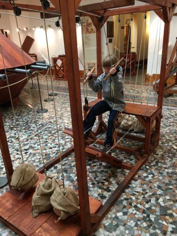 Things to do with kids in Florence Italy include the da Vinci museum