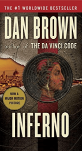 Inferno (Robert Langdon book 4) by Dan Brown, Italian books, Dante, books set in Florence