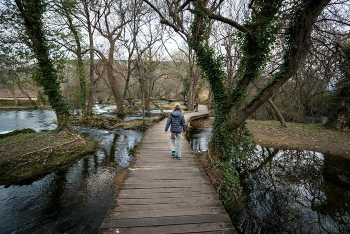 National Park Krka is filled with boardwalks