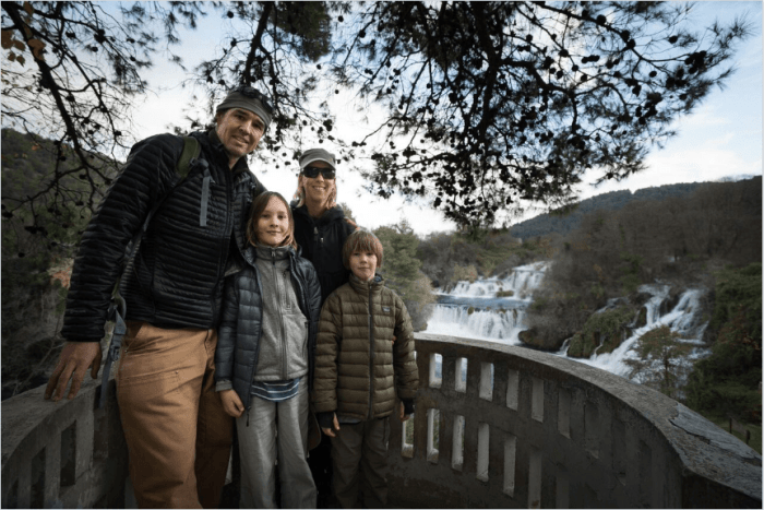 TravelingMel and family in Plitvice National Park