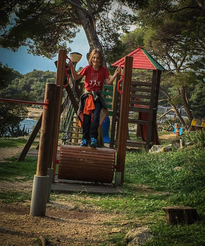 Playgrounds in Hvar Town croatia