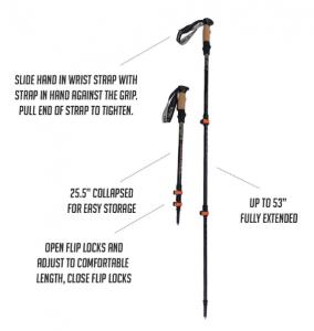 trekking poles make hiking easier