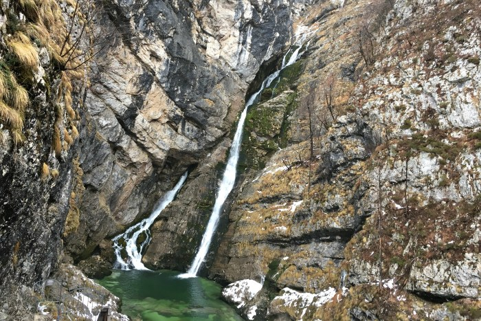 Slovenia's best waterfall is near Bled bohinj