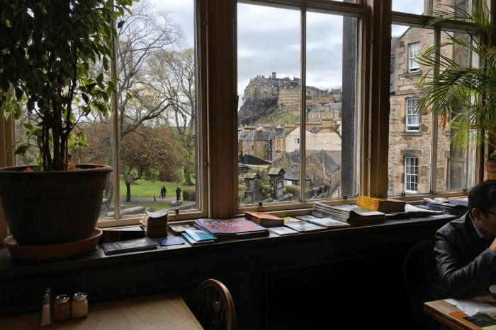 The Elephant House in Edinburgh where JK Rowling wrote Harry Potter