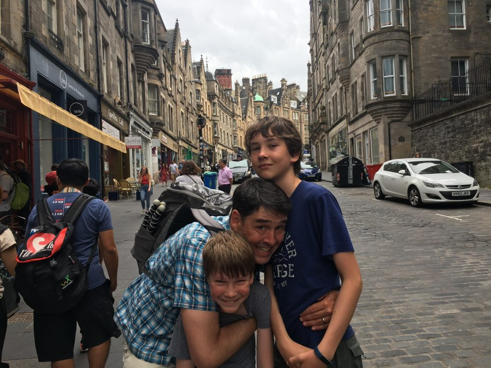 things to do in Edinburgh with kids includes hanging out on the interesting street