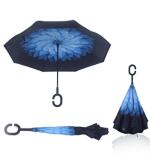 reversible umbrella for sun or rain