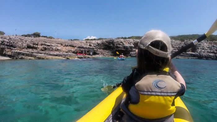 kayak tour on kotor bay