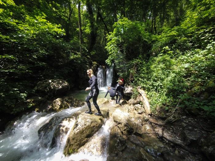 waterfall on the tara river montenegro