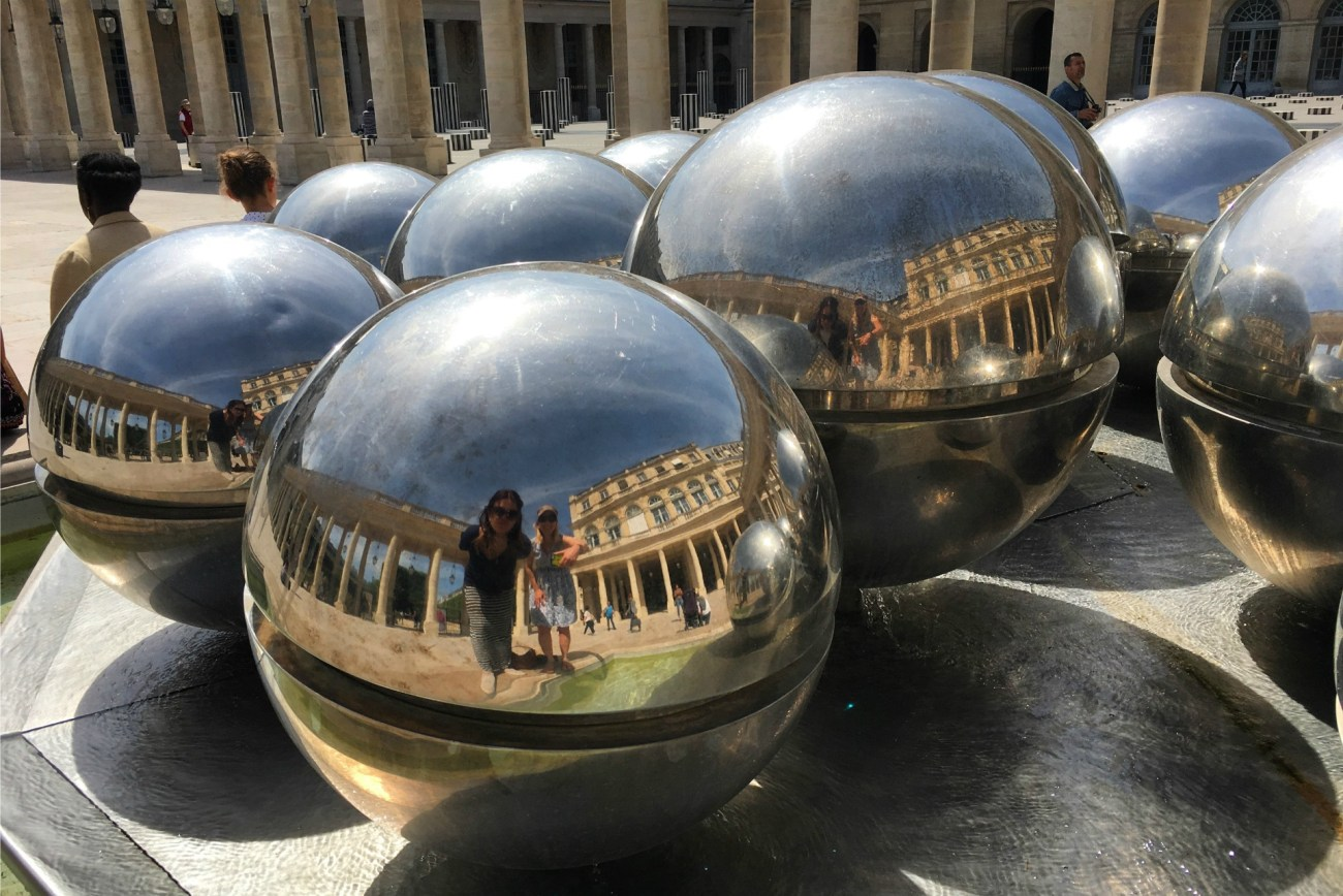 Places to see in Paris include the Palais Royal Garden