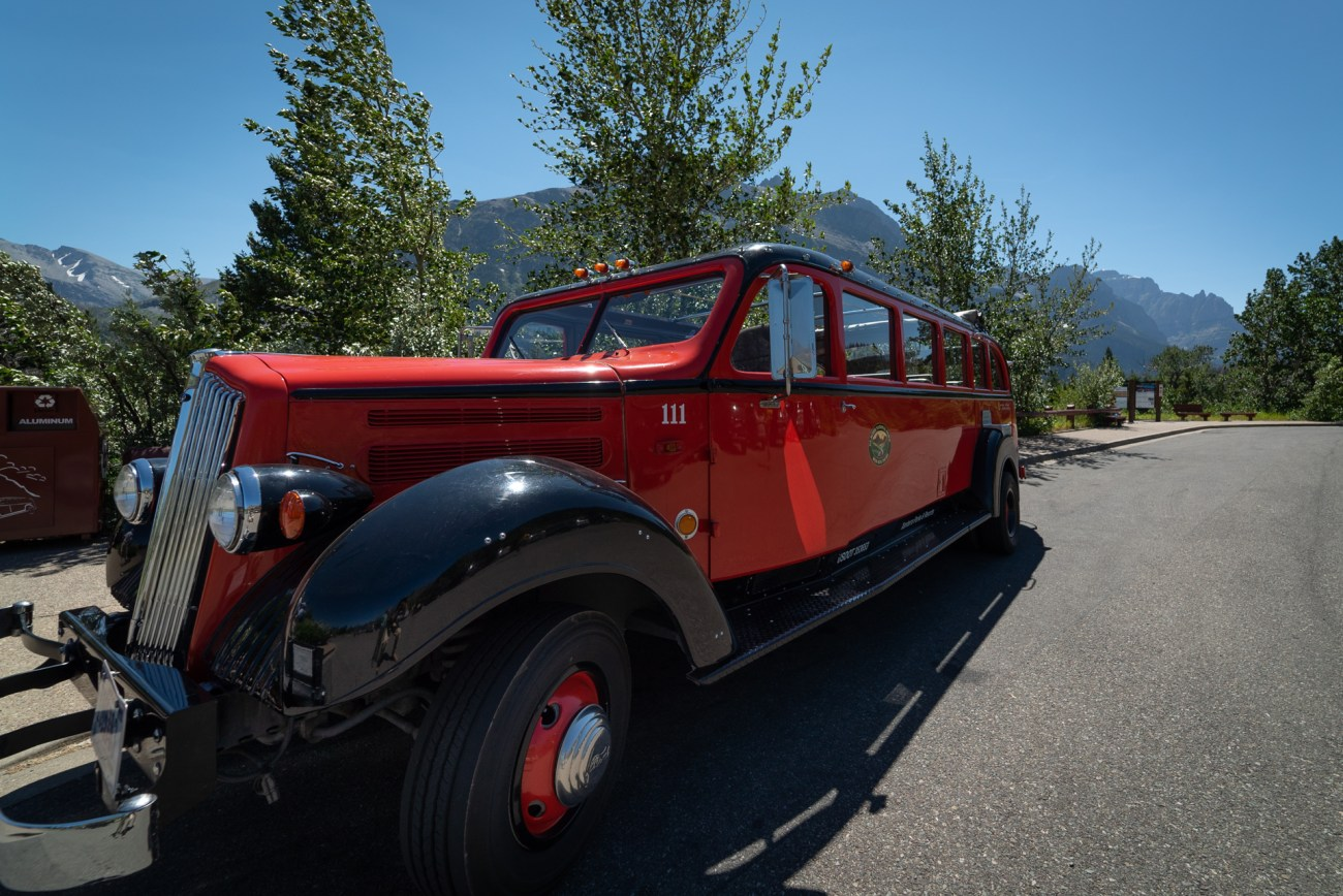 Guided Red Bus Tours in Glacier National Park