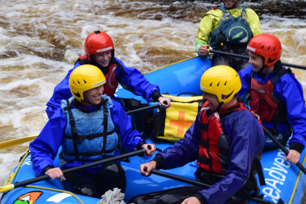 the best rafting in Scotland
