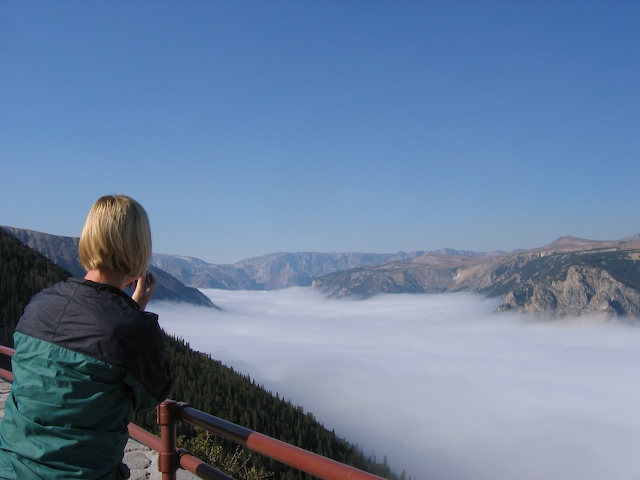 Above the fog on the Beartooth Highway