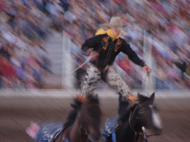 Trick Riding at the Livingston Roundup Rodeo