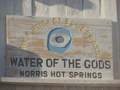 Norris Hot Springs sign