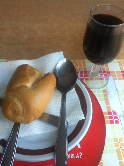 Bread and Wine…staples at the Spanish dinner table