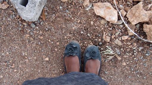 My dusty shoes in Botswana.