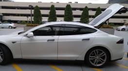 I got picked up in a Tesla!