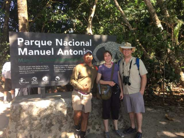 We hired a guide when we visiting Manuel Antonio National Park