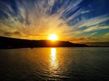 Full Sunset Over the Hill