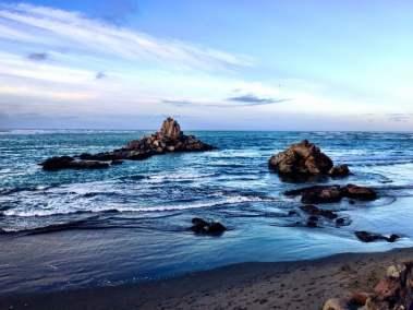Rocks in the Sea in Sumner Beach, Christchurch, NZ
