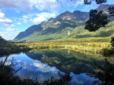 Reflection Lake in Fiordland National Park