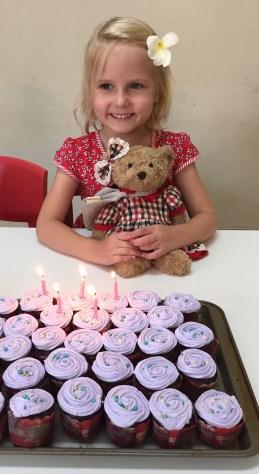Together we celebrated Benita's 5th birthday