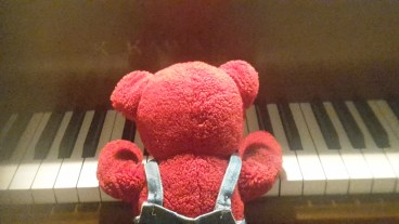 Jerry enjoyed a piano lesson.