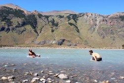 Polar Plunge into Freezing Glacial River