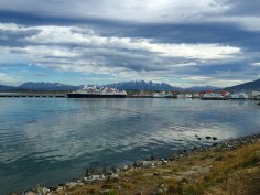 View of Beagle Channel from Ushuaia