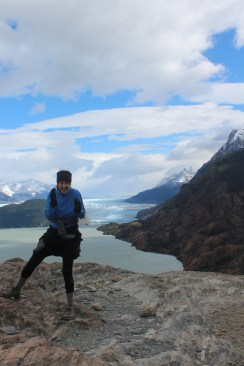 Braving the Wind to Capture a Picture with Grey Glacier