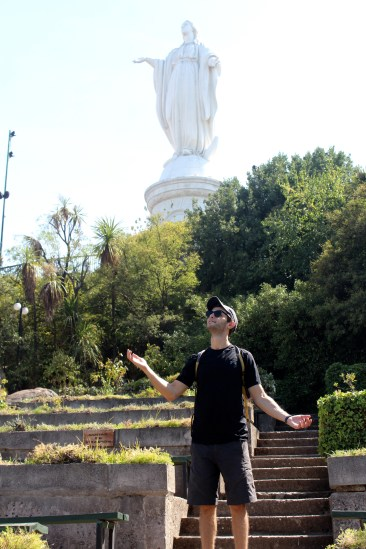 Michael Impersonating Virgin Mary Atop Cerro San Cristobal