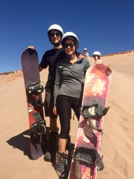 Sandboarding in Death Valley