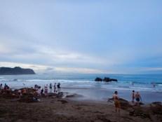 Hot Water Beach at Sunset