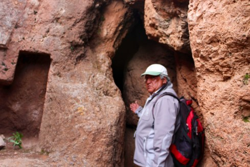 Julio Guiding Us Into Secret Cave