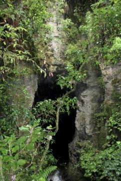 Exiting Waitomo Caves