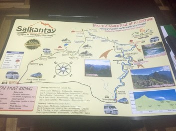 Map of 5-Day Trek