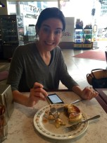 Eating Meat Pie in Auckland