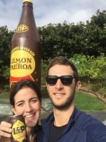 Drinking Lemon & Paeroa