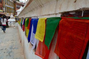 Buddhist Prayer Flags at Stupa