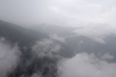 Limited View from Helicopter Because of Weather