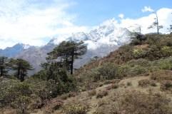 Mountains on Acclimatization Day Trek in Namche Bazaar (Day 3)
